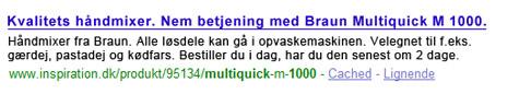 Forslag til forbedret søgeresultat på inspiration.dk