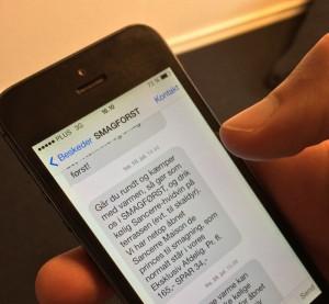 Eksempel på SMS
