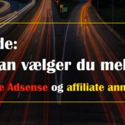 Adsense eller affiliate annoncer