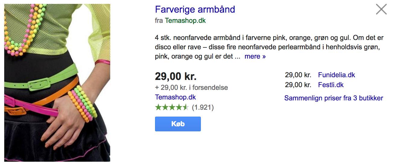 Google Shopping eksempel 2