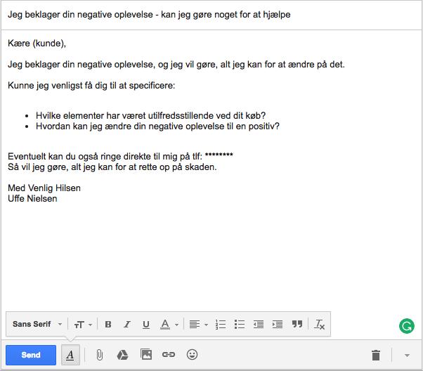Negativ e-mail