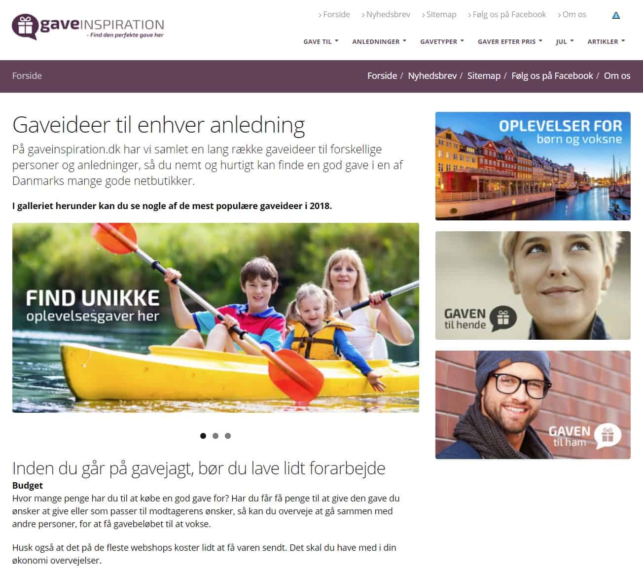 Gaveinspiration.dk
