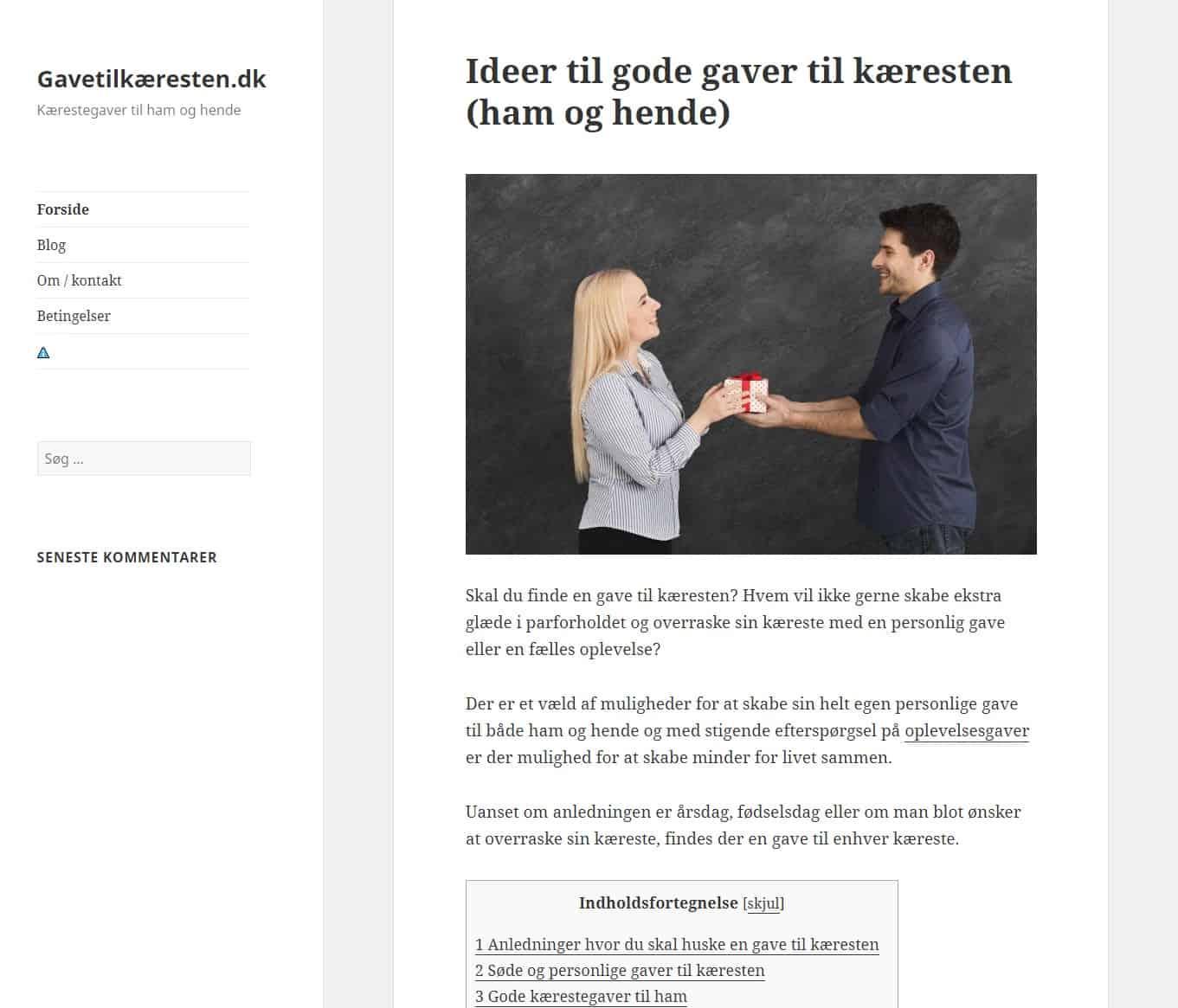 Gavetilkæresten.dk